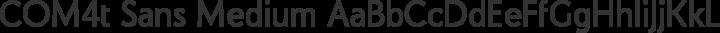 COM4t Sans Medium Regular free font
