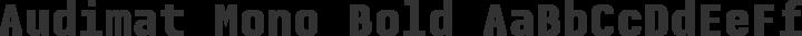 Audimat Mono Bold free font