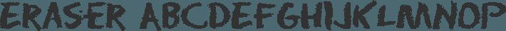 Eraser font family by David Rakowski