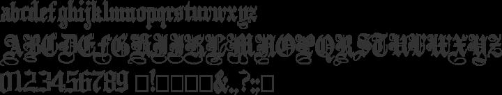 PlainBlack Font Specimen