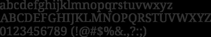 Noto Serif Font Specimen
