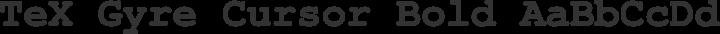 TeX Gyre Cursor Bold free font