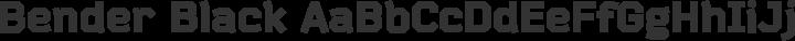 Bender Black free font