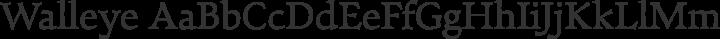Walleye Regular free font