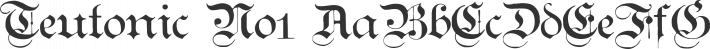 Teutonic No1 font family by Paul Lloyd