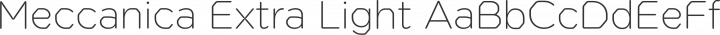 Meccanica Extra Light free font