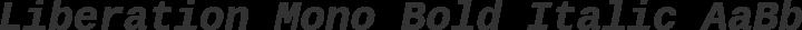 Liberation Mono Bold Italic free font