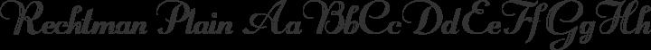 Rechtman Plain free font