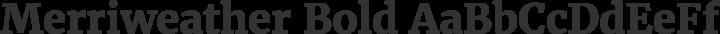 Merriweather Bold free font