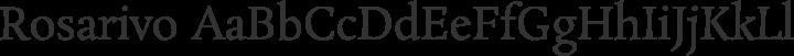 Rosarivo Regular free font