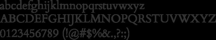 Cardo Font Specimen