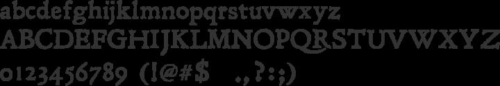 Leander Font Specimen