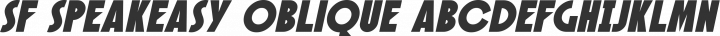 SF Speakeasy Oblique free font