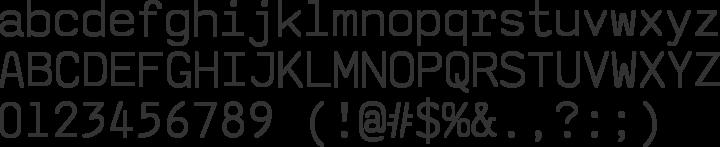 saxMono Font Specimen