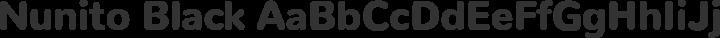 Nunito Black free font