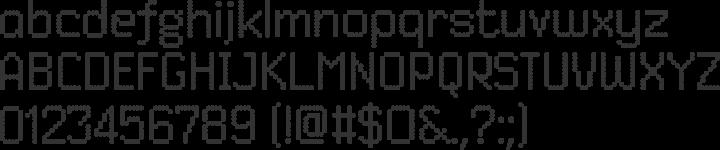 Dited Font Specimen
