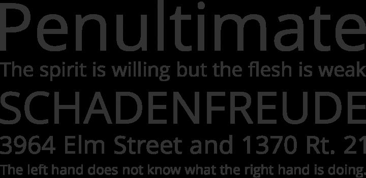 Khula Font Phrases