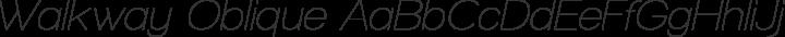 Walkway Oblique Regular free font