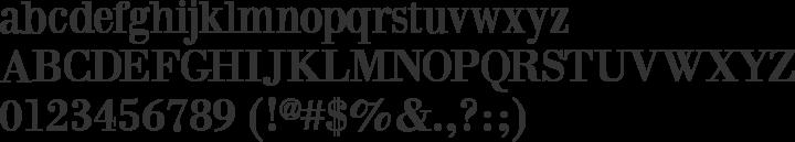 BodoniXT Font Specimen