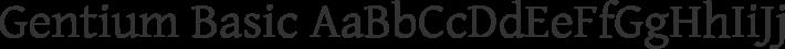 Gentium Basic font family by SIL International