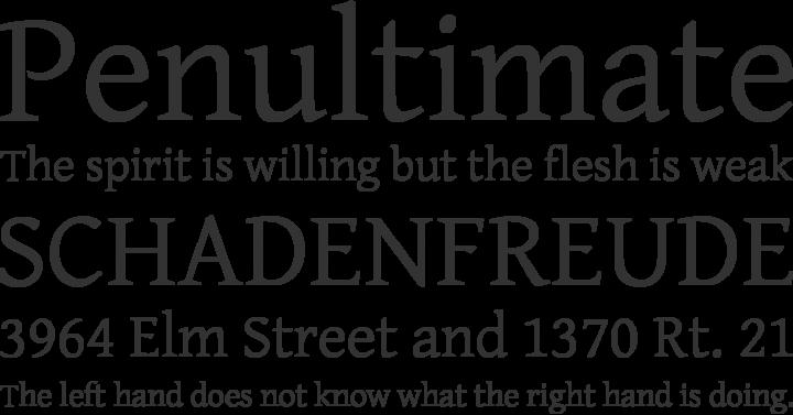 Gentium Basic Font Phrases
