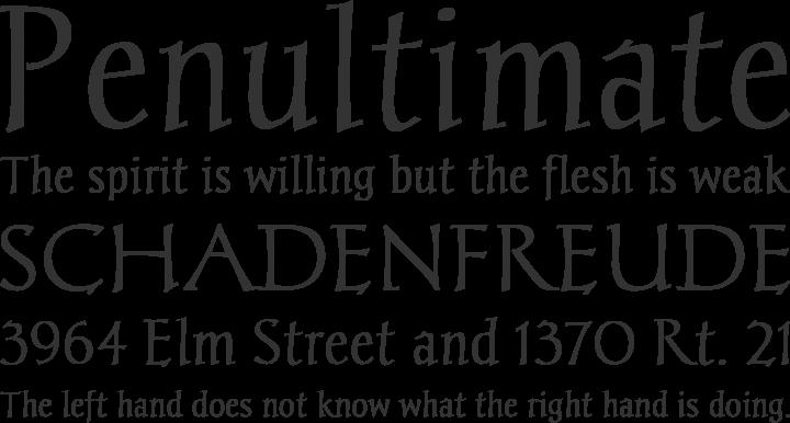 Chantelli Antiqua Font Phrases