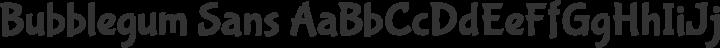 Bubblegum Sans Regular free font