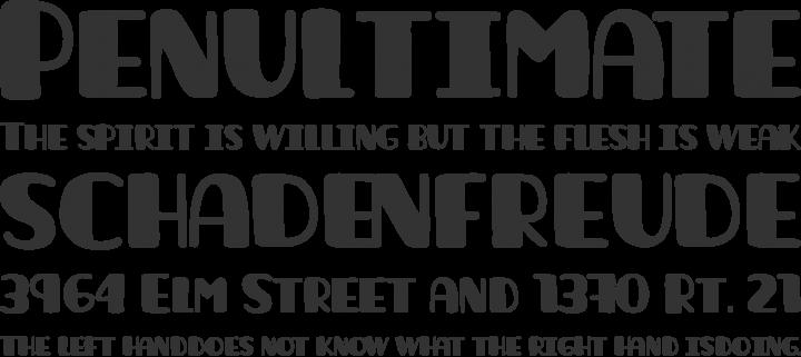 La unica Font Phrases