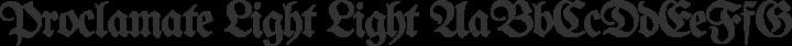 Proclamate Light Light free font