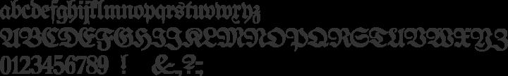Proclamate Light Font Specimen
