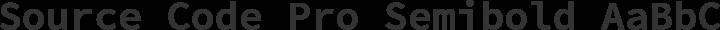 Source Code Pro Semibold free font