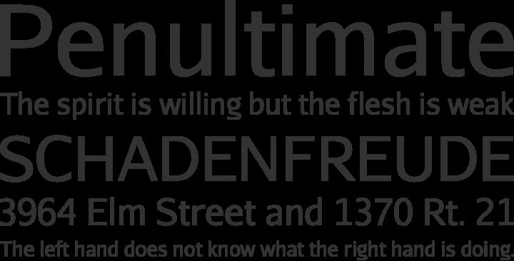 Aurulent Sans Font Phrases