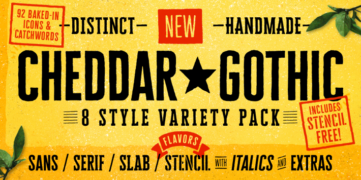 Cheddar Gothic Font Free By Adam Ladd Font Squirrel