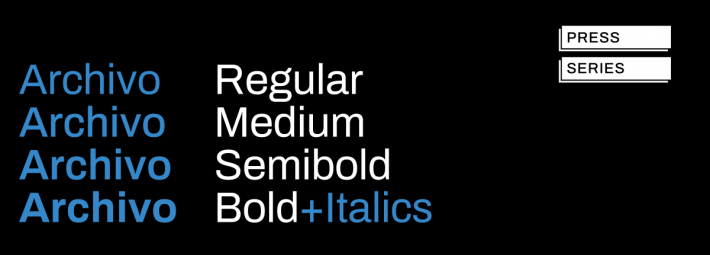 Archivo Font Free by Omnibus Type » Font Squirrel